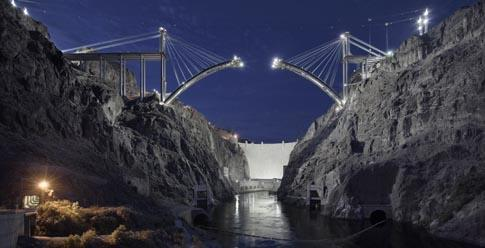 Bridge at Hoover Dam, Upstream View, May 21, 2009  Image # 2848