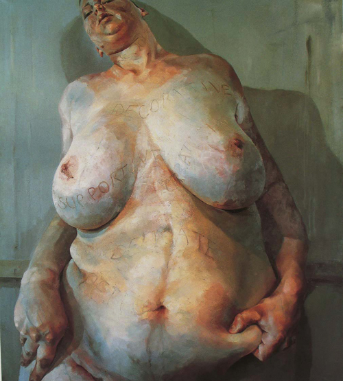 """Branded"" by Jenny Saville (1992)"