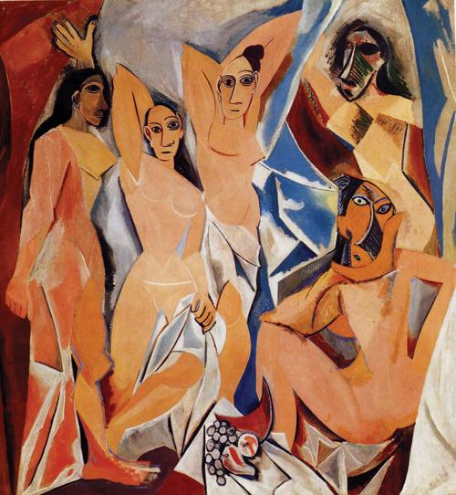 """""""Les Demoiselles d'Avignon"""" by Pablo Picasso (1907)"""