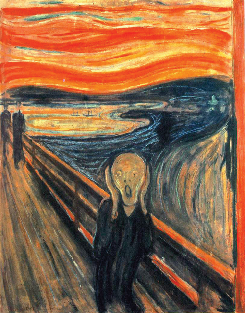 """The Scream"" by Edvard Munch (1893)"
