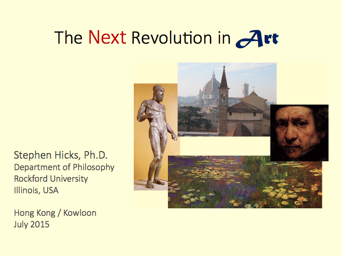 "Hong Kong lecture: ""NEO-ENLIGHTENMENT ART AFTER POSTMODERNISM"""