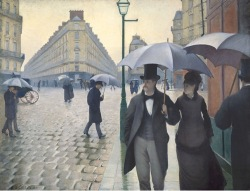 caillebotte-paris street, rainy day