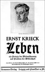 Krieck-Ernst-Leben