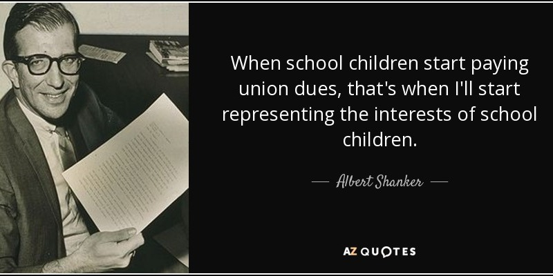 Teachers unions and what's good for the children